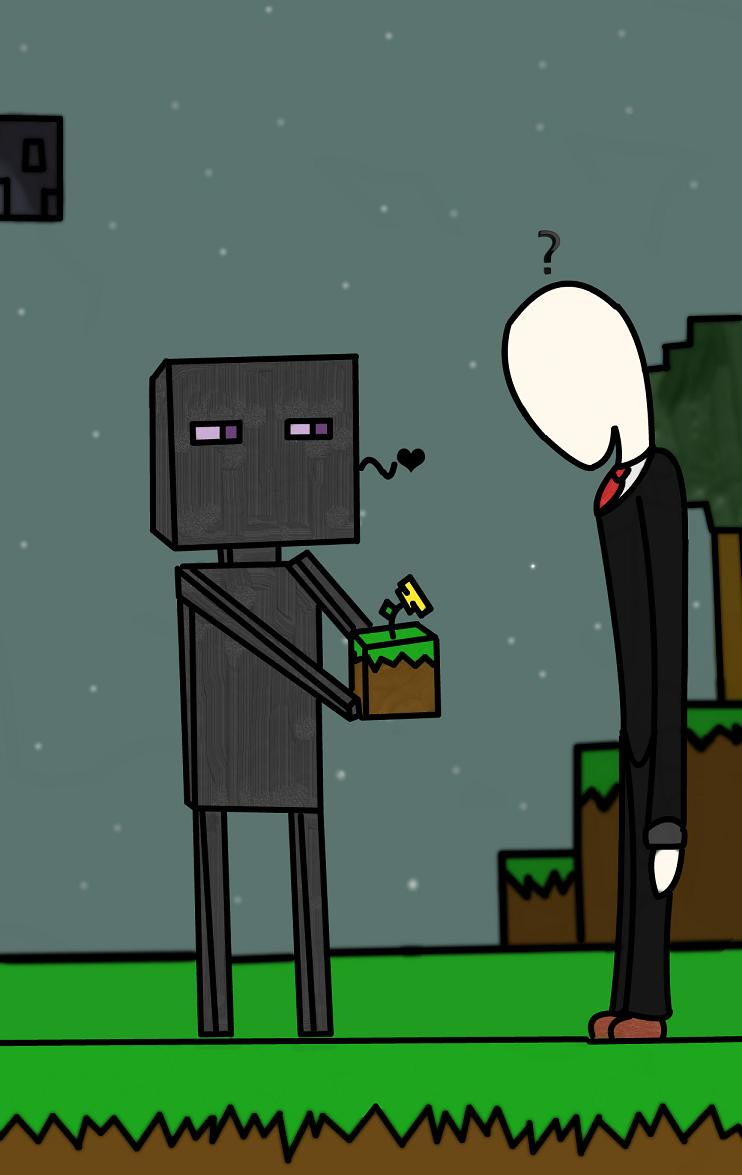 enderman and slender man meet
