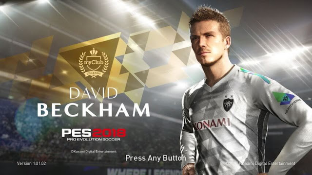 David Beckham Start Screen PES 2018