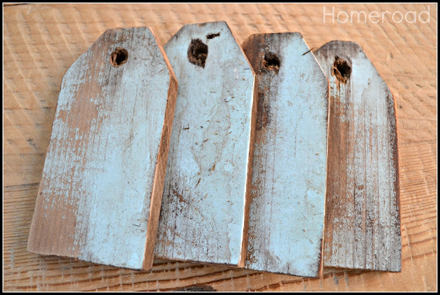 Create a weathered look with repurposed hang tags