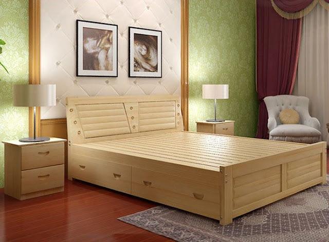 Giường ngủ bằng gỗ công nghiệp MDF