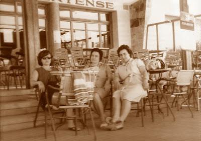 Las ajedrecistas Maria Lluïsa Puget, Maria Rosa Ribes y Antonia Jover