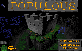 Populous Amiga title screen