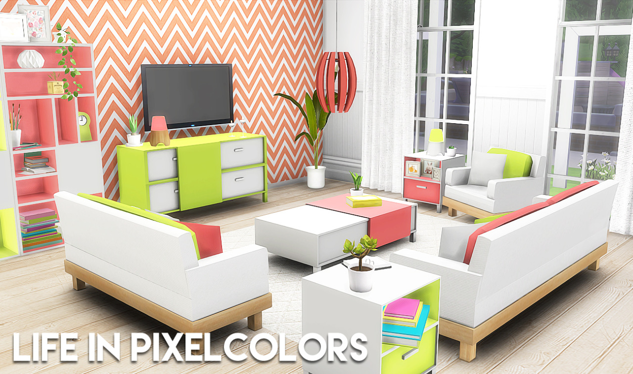 My sims 4 blog life in pixel colors living set by for 4 living furniture