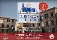 Terza edizione del Borgo dei Libri: 6-7 e 13-14 maggio 2017 a Torrita