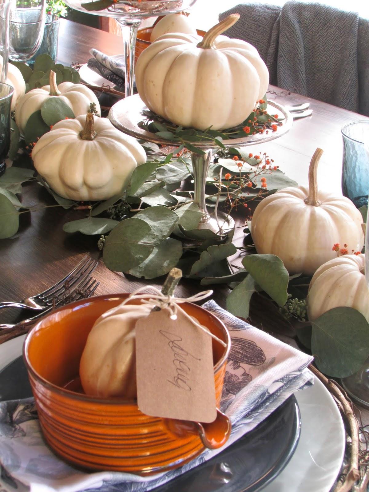 apparecchiare la tavola d'autunno
