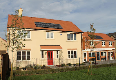 Larkfleet house with PV solar panels
