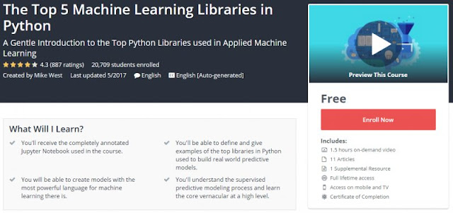 [100% FREE] The Top 5 Machine Learning Libraries in Python