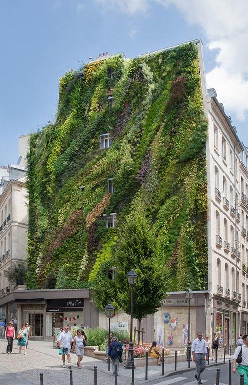 Exquisitos jardines verticales caen en cascada sobre una jungla de concreto