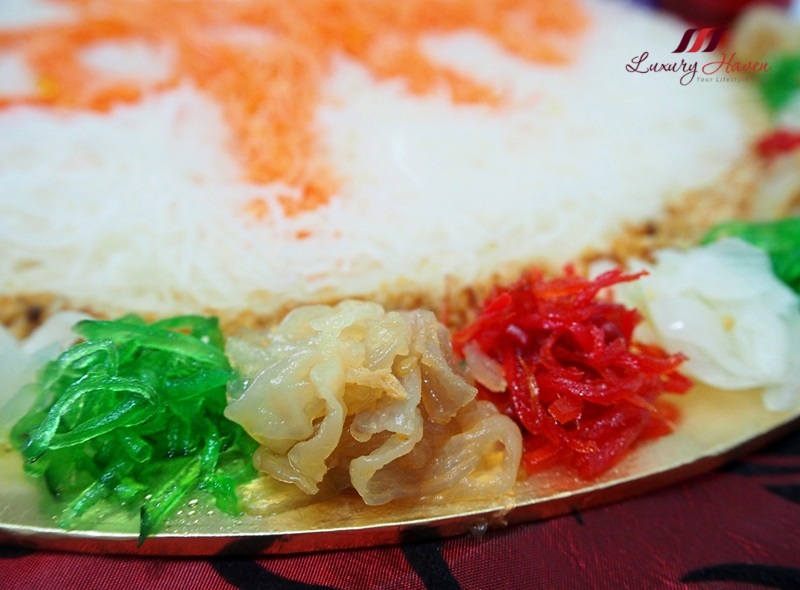 cny lohei jellyfish yu sheng pickled ginger nutmeg