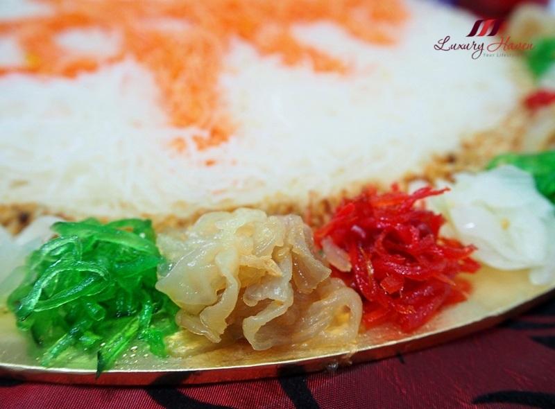cny lohei jellyfish yu sheng pickled ginger nutmeg