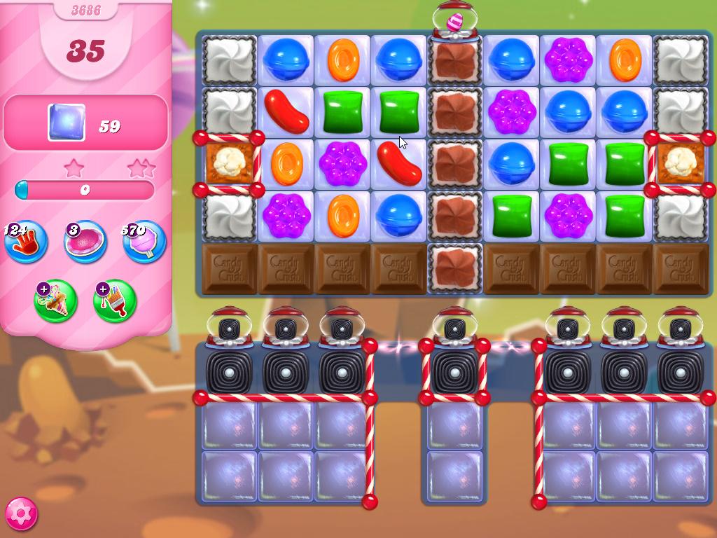 Candy Crush Saga level 3686