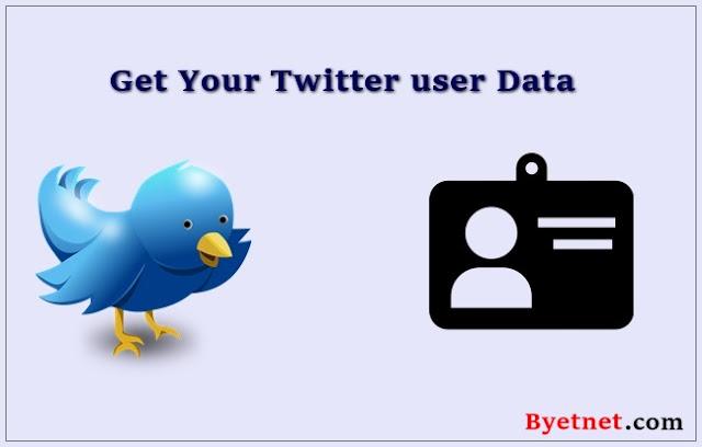 Twitter user data कैसे डाउनलोड करें