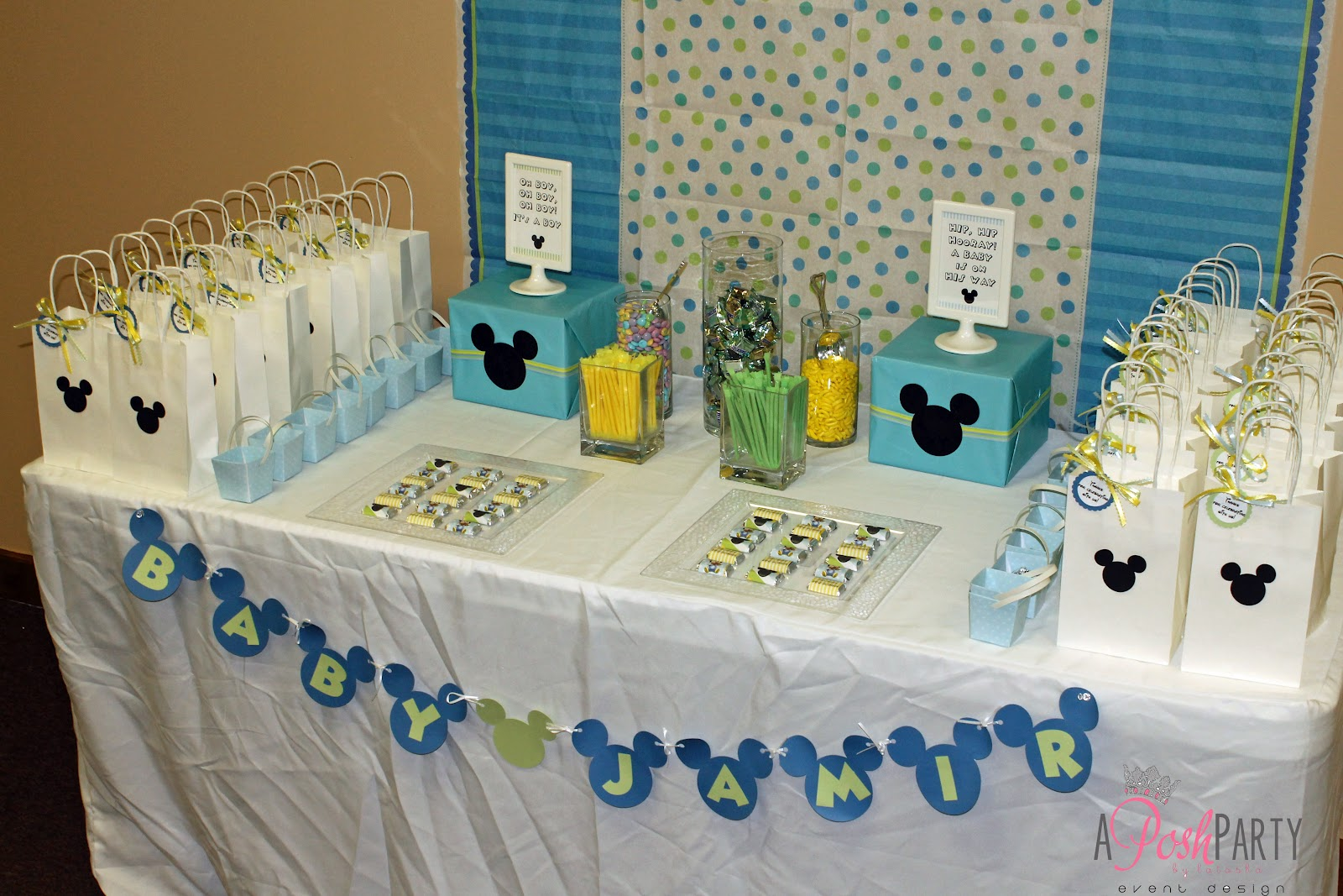 Baby Mickey Mouse Baby Shower Decorations | Best Baby ...