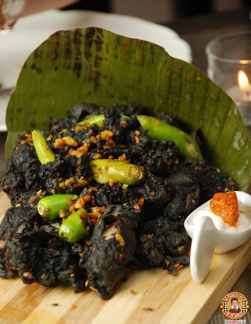 Crispy Pusit in Squid Ink