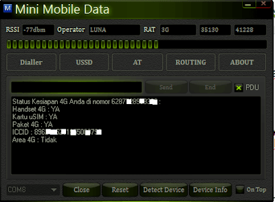 mengecek nomor hp dan kuota di laptop dan pc