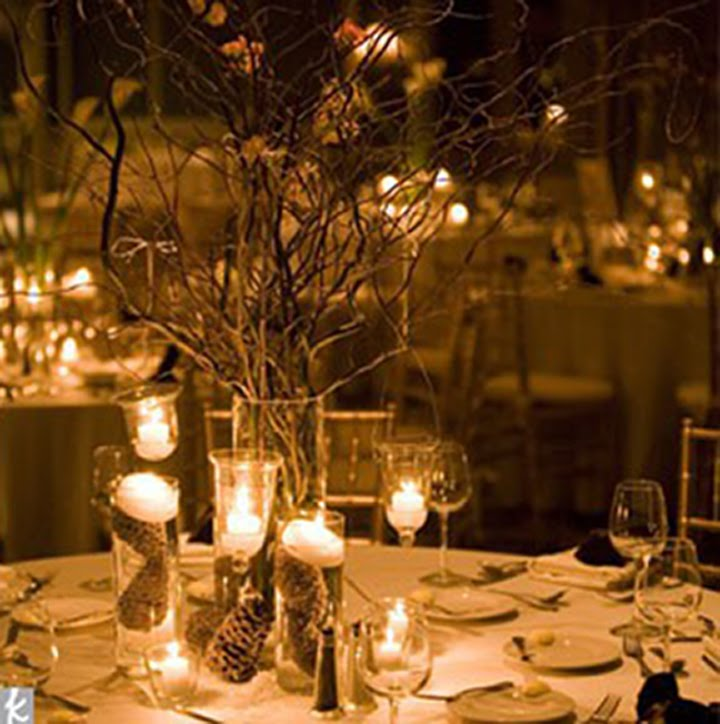 Cheap Wedding Table Decorations Ideas: LLOSO: Organic Winter Table Setting