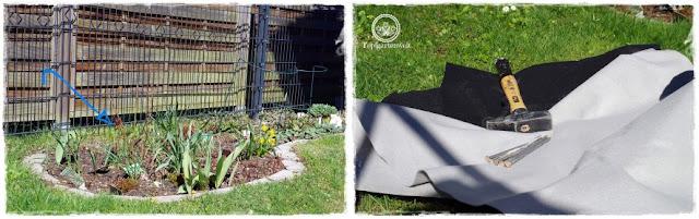 Gartenblog Topfgartenwelt Unkrautvlies im Test: das Jäten von Unkraut beim Gartenzaun bzw. der Pergola wurde zunehmend zum Problem