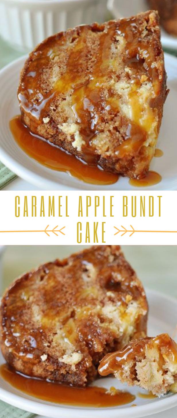 CARAMEL APPLE BUNDT CAKE #cake #dessert