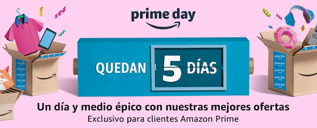 13 ofertas Quedan 5 días para el Amazon Prime Day