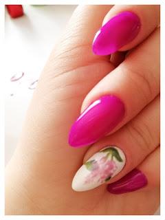 bez, paznokcie, hybrydy; long nails