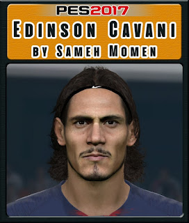 PES 2017 Faces Edinson Cavani by Sameh Momen