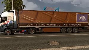 Milka chocolate trailer