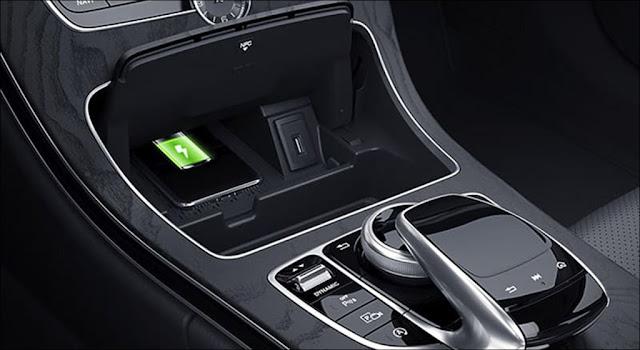 Sạc không dây cho điện thoại chuẩn Qi Mercedes C200 Exclusive 2019