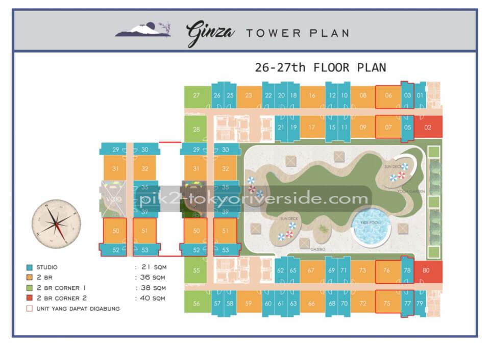 Site Plan Tokyo Riverside Apartment 26-27 Floor