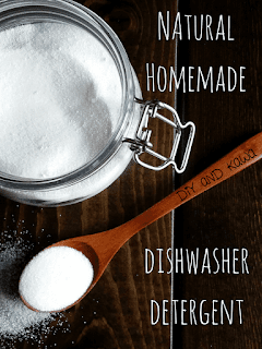 natural and homemade dishwasher detergent