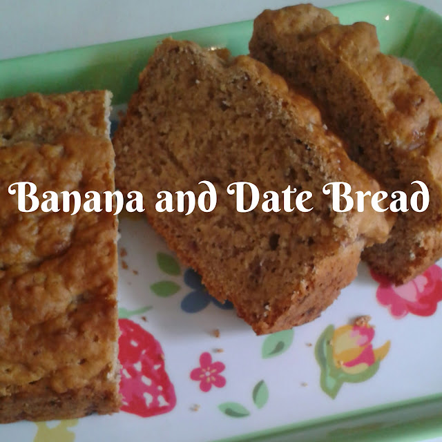 Banana and date bread, recipe