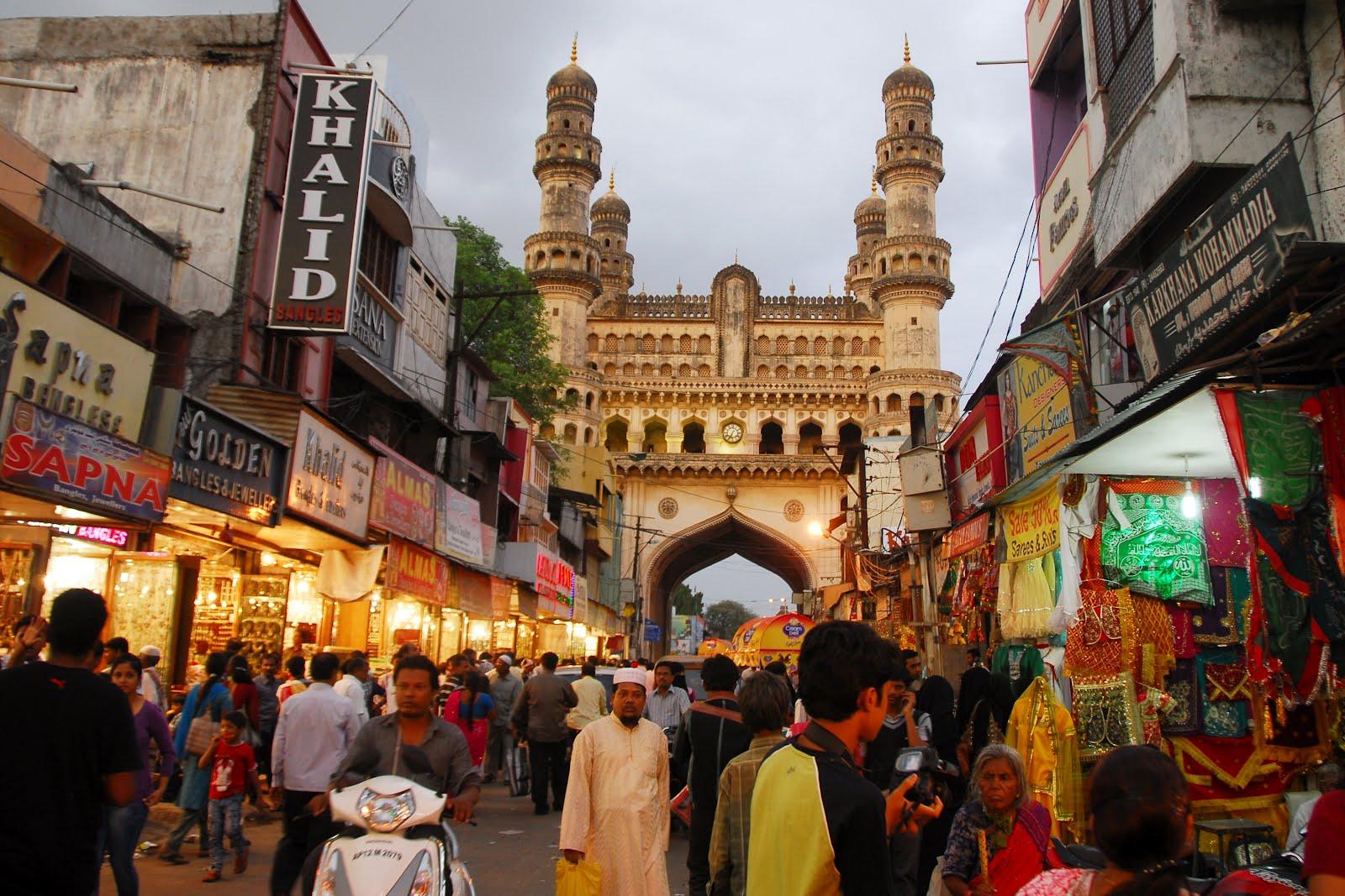 Hyderabad Tourism Places Laad Bazar Charminar