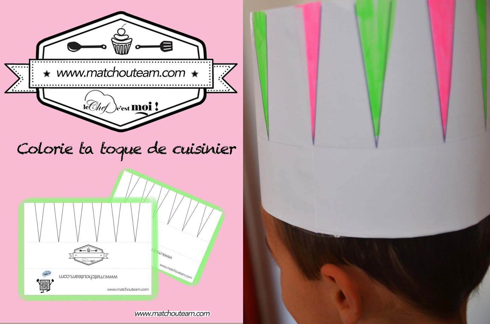 Toque De Chef Toque De Chef En Papier Table De Cuisine