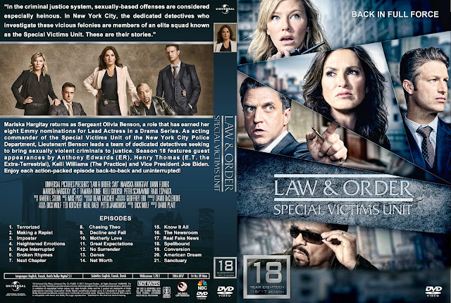 Law & Order Special Victims Unit Season 18 DVD Cover