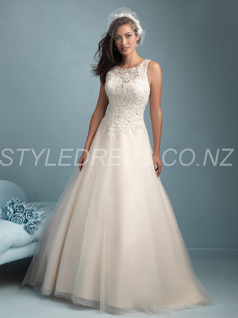 Scoop Ball-Gown Lovely Kaikohe Zipper-Up Button Sleeveless Floor-Length Ivory Wedding
