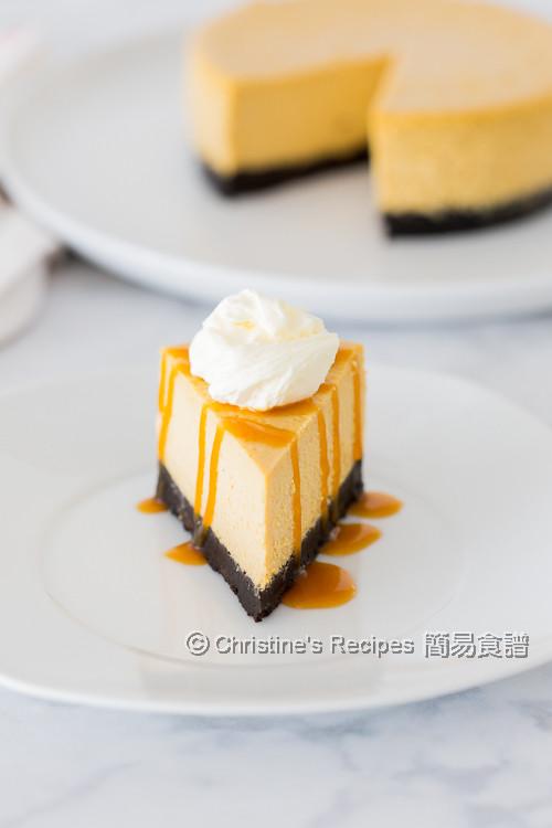 南瓜芝士蛋糕配焦糖汁 【軟綿幼滑 + Video】 Pumpkin Cheesecake with Caramel Sauce   簡易食譜 - 基絲汀: 中西各式家常菜譜