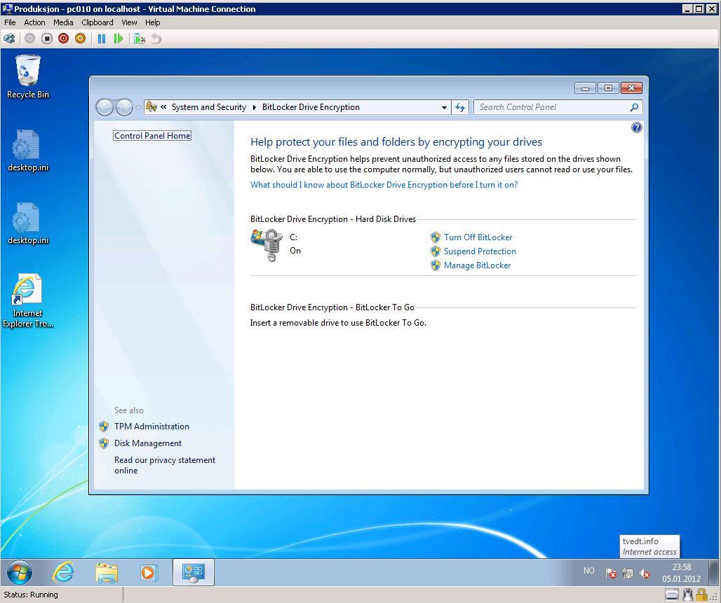 Bitlocker Vm on Microsoft Windows 7 Product Key