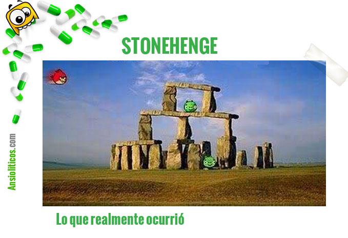 Chiste de Angry Birds: Stonehenge