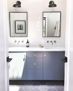 Dream Bathroom Reno Grey Hex Tile Modern Fixtures And Two Budgets Create Enjoy