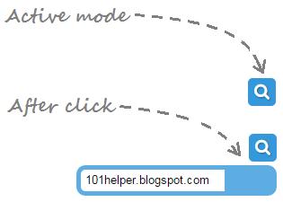 Blue colored slide-in search box for blogger | 101helper