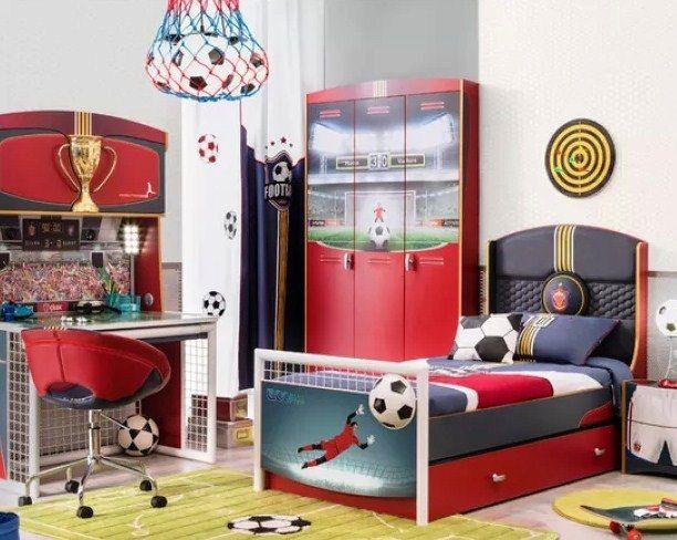 Contoh Desain Kamar Tidur Anak Laki-Laki Tema Bola