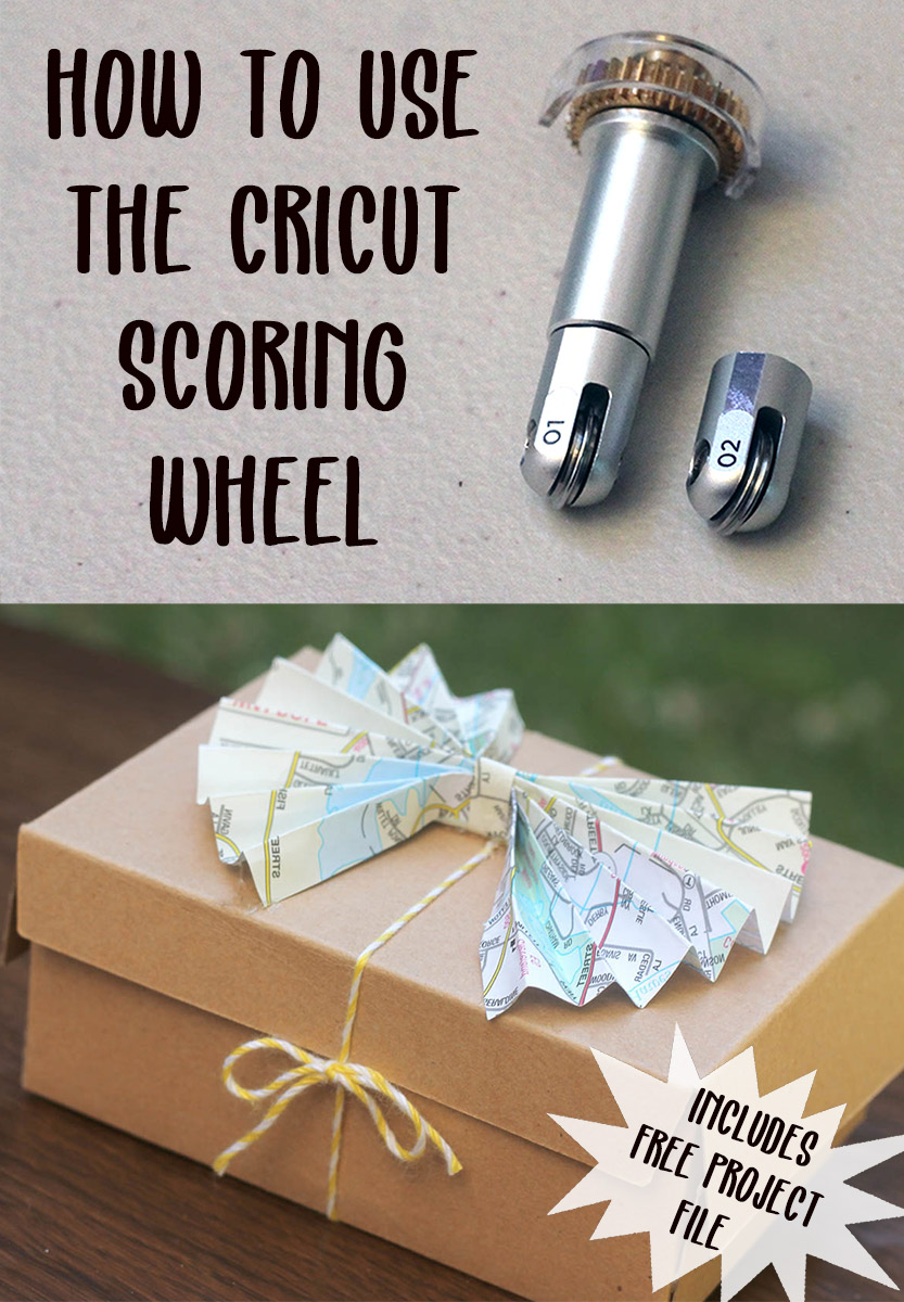 How to use the new cricut scoring wheel on the cricut maker. Perfect folded paper creases.. in all sorts of materials. Includes a free sample project to get started!
