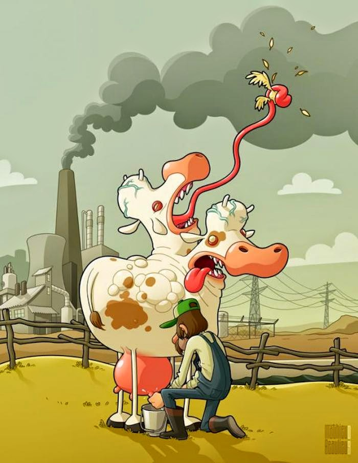 ilustraciones por Mathieu Beaulieu