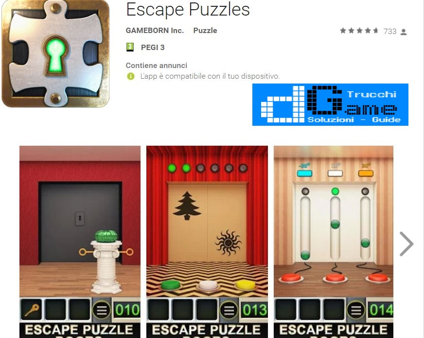 Soluzioni Escape Puzzles livello 1-2-3-4-5 | Trucchi e Walkthrough level