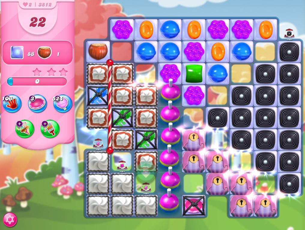 Candy Crush Saga level 3812