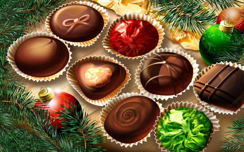 Fondos De Pantalla De Chocolates: Christmas Chocolates Fondo De Pantalla