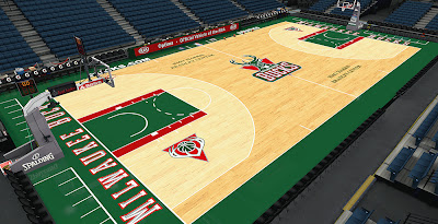 NBA 2K14 Milwaukee Bucks Old Court