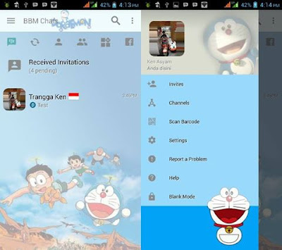 BBM Mod Doraemon Light Style V3.2.3.11 Apk