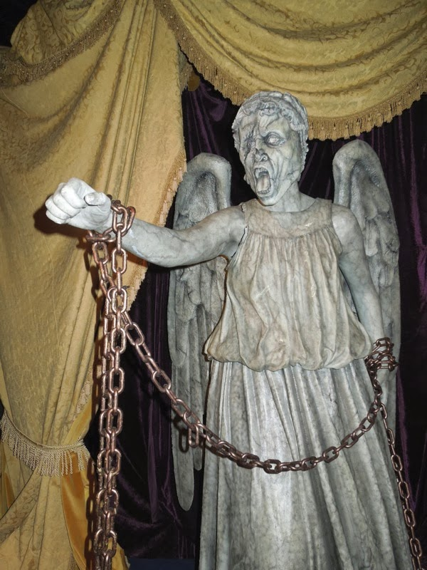 Chained Weeping Angel prop Doctor Who Angels Take Manhattan