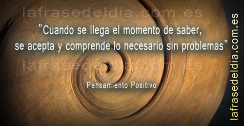 Frases motivadoras, pensamiento positivo