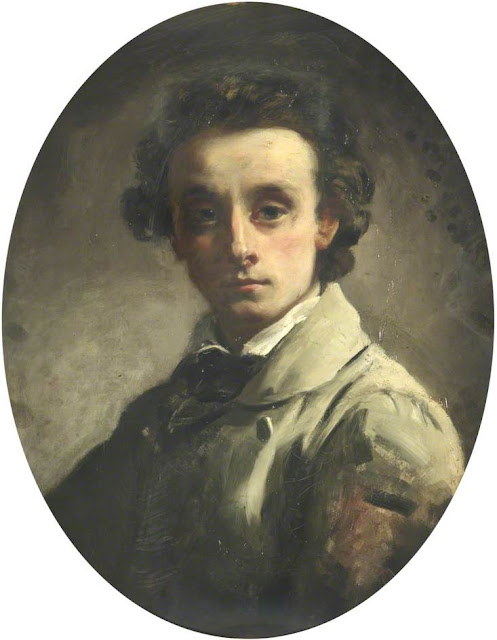 William Lindsay Windus, Self Portrait, Portraits of Painters, William Lindsay , Fine arts, Portraits of painters blog, Paintings of William Lindsay, Lindsay Windus, Painter William Lindsay